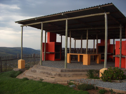amathole mountain lodge braai area