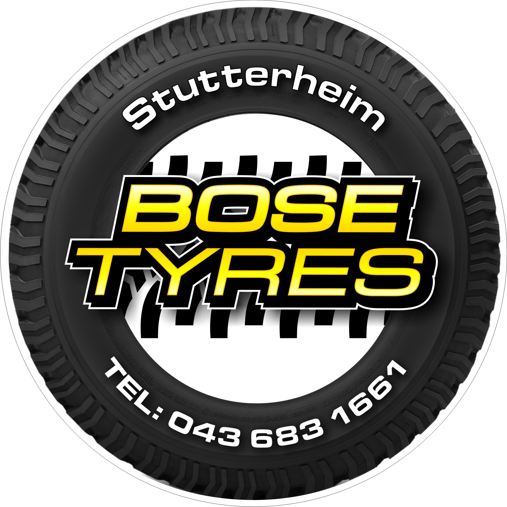 BOSE TYRES LICENCE DISK HOLDER ARTWORK